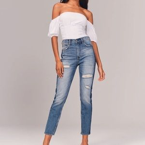 Abercrombie & Fitch The Mom High Rise Jeans